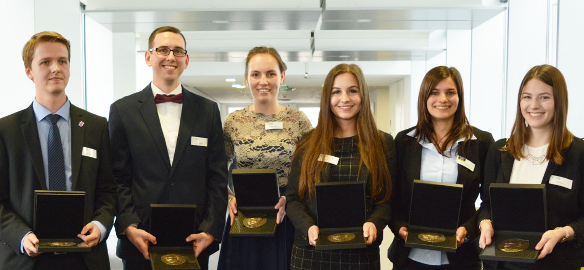 Six THM graduates awarded for achievements in studies and honorary office
